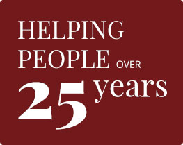 Helping people over 25 years